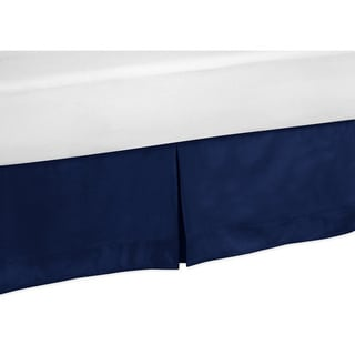 Sweet Jojo Designs Solid Navy Blue Toddler Bed Skirt