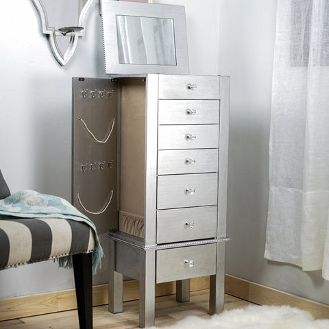 Hives & Honey Hannah Silver Jewelry Armoire