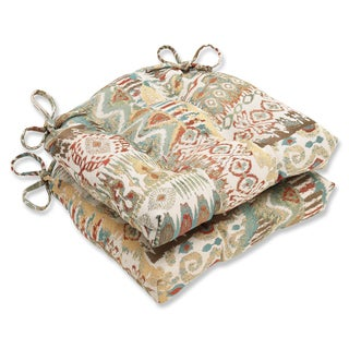 Pillow Perfect Medley Multi Reversible Chair Pad (Set of 2)