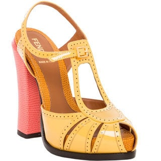 Fendi Colorblock Perforated Platform Shoe