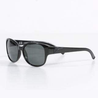 Smith Women's Black Lyric Sunglasses with Polarized Gray Lenses