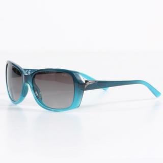 Smith Women's Navy Aqua Fade Facet Sunglasses with Gray Gradient Lenses