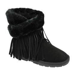 Girls' Lamo Fringe Wrap Boot Black (5 options available)