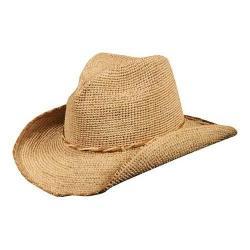Women's Callanan CR192 Crocheted Western Straw Hat Natural