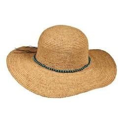 Women's Callanan CR198OS Crocheted Round Crown Sun Hat Natural