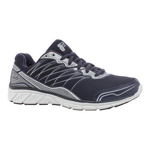 3e4cbbf4f24d Shop Men s Fila Countdown 2 Running Shoe Fila Navy Fila Navy Metallic Silver  - Free Shipping On Orders Over  45 - Overstock - 11132716