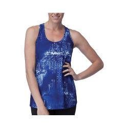 Women's Fila Breezy Loose Fit Tank Top Violet Blue City Lights Print