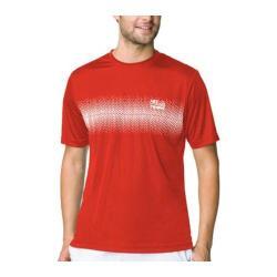 Men's Fila Core Tennis Printed Crew Chinese Red/White/Peacoat