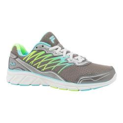 Women's Fila Countdown 2 Running Shoe Dark Silver/Blue?sh/Green Gecko
