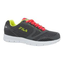 Women's Fila Direction Running Shoe Castlerock/Diva Pink/Safety Yellow