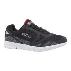 Men's Fila Direction Running Shoe Black/Castlerock/Fila Red