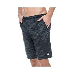 Men's Fila Fundamentals Brushstroke Short Black Print