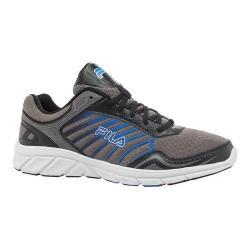 Men's Fila Gamble Running Shoe Dark Silver/Black/Prince Blue