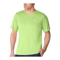Men's Fila Heathered Short Sleeve Crew FM121P44 Hot Lime