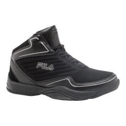 Men's Fila Import Basketball Shoe Black/Black/Dark Silver