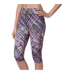 Women's Fila Pretty Printed Capri Black Neon Night Print
