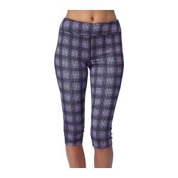 Women's Fila Pretty Printed Capri Lavender Plaid Print