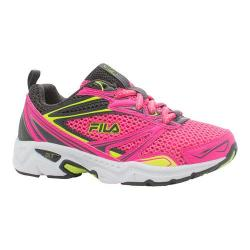 Girls' Fila Royalty Running Shoe Knockout Pink/Dark Silver/Safety Yellow