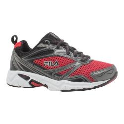Boys' Fila Royalty Running Shoe Fila Red/Dark Silver/Black