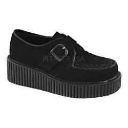 Women's Demonia Creeper 118 Creeper Black Vegan Suede