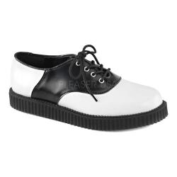 Demonia Creeper 606 Saddle Creeper White/Black Leather