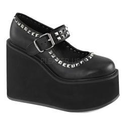 Women's Demonia Swing 03 Mary Jane Black Vegan Leather