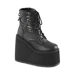 Women's Demonia Swing 101 Ankle Boot Black Vegan Leather
