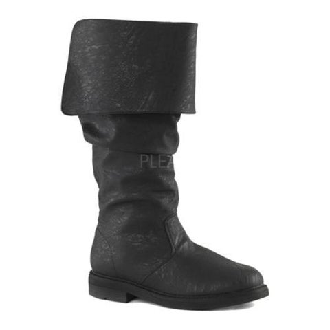Men's Funtasma Robinhood 100 Boot Black Distressed PU