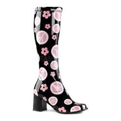 Women's Funtasma Gogo 300FL Knee High Boot Black Stretch Patent