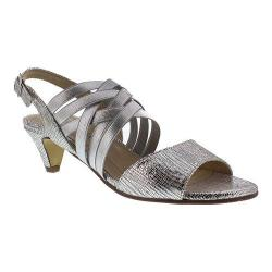 Women's Rose Petals by Walking Cradles Lively Slingback Silver Lizard Print