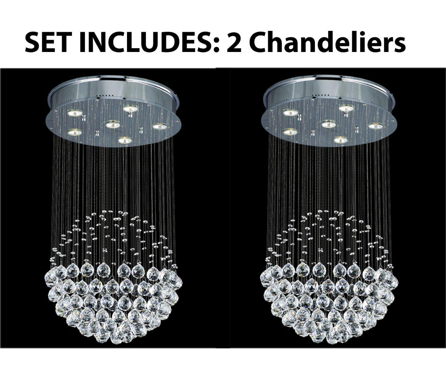 *2 Piece Set* Lighting Set Modern Contemporary*Rain Drop* Chandelier