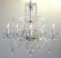 *Set Of 10* Large Crystal Chandelier Lighting H24 x W25 *Set Of 10*