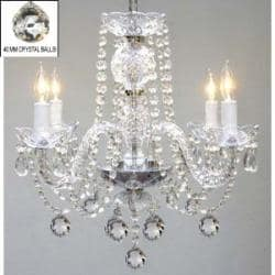 Swag Plug In Authentic All Crystal Chandelier Lighting H17 x W17