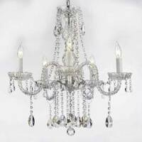 Swag Plug In Chandelier All Crystal Lighting H27 x W24