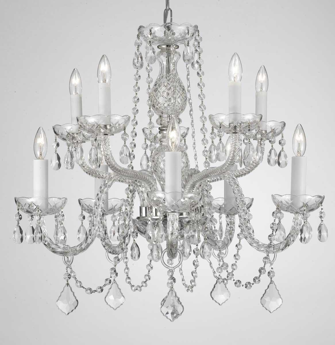 Empress Crystal Plug In Chandelier With 10 Lights H25 x W24