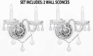 *Set Of 2* Venetian Style Crystal Wall SconceS Lighting