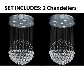 *2 Piece Set* Lighting Set Modern Contemporary*Rain Drop* Chandelier - Thumbnail 0