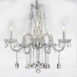 Authentic All Crystal Chandelier Lighting H27 x W24