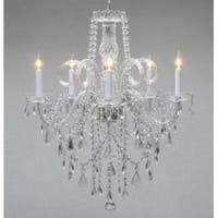 Authentic Swag Plug In Chandelier All Crystal H30 x W24