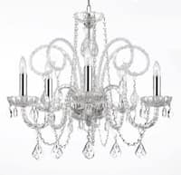 Empress Crystal Chandelier Lighting With Chrome Sleeves H25 x W24