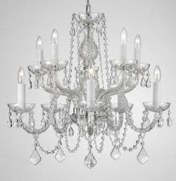 Empress Crystal Plug In Chandelier With 10 Lights H25 x W24 - Thumbnail 0