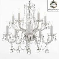 Empress All Crystal Chandelier Lighting With 40 mm Crystal Balls