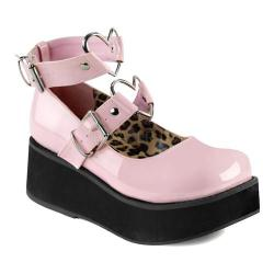 Women's Demonia Sprite 02 Platform Mary Jane Baby Pink Patent (More options available)