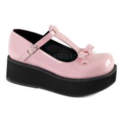 Women's Demonia Sprite 03 T-Strap Platform Shoe Baby Pink Patent