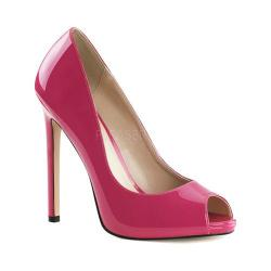 Women's Pleaser Sexy 42 Peep Toe Pump Hot Pink Patent