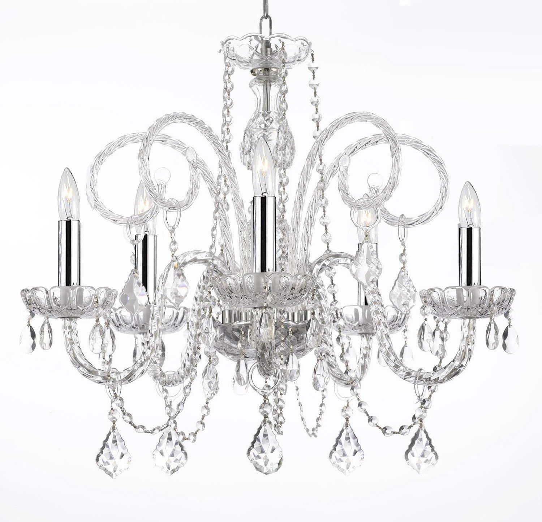 Empress Crystal Chandelier Lighting With Chrome H25 x W24