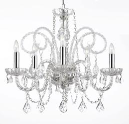 Empress Crystal Chandelier Lighting With Chrome H25 x W24 - Thumbnail 0