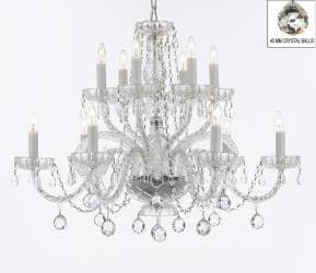 Venetian Style Empress All Crystal Chandelier Lighting With Crystal Balls - Thumbnail 0