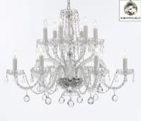 Venetian Style Empress All Crystal Chandelier Lighting With Crystal Balls