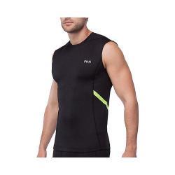 Men's Fila Endurance Sleeveless Compression Tank Top Black/Safety Yellow